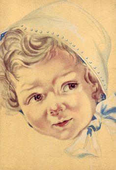 Kinderportret. Design: anonym. Kaart heeft niet gelopen. Zie ook www.postersquare.com categorie 008