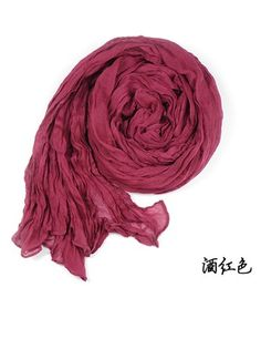 Soft Style Pure Color Scarf Wine Red i3569250