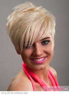 Stylish Short Platinum Pixie Hair Style