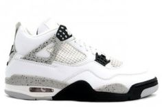 308497-103 Air Jordan Retro 4 Cement 2012 ( White / Cement Grey / Black )