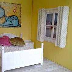 zasłonki do domku dla lalek :: zestaw biało-niebieski fufurufu, Lundby