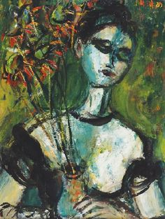 'Mysterious woman' - Zygmunt Menkes (1896–1986)