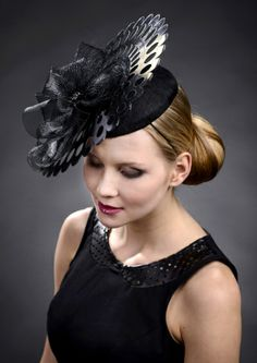 """HATSPIRATION CELEBRATION! """"I like this photograph from Marge Iilane, as I think it captures the beauty of the hat. The fact it is taken on an angle shows the hat off to it's best advantage as it shows the layers. If it was taken front on, whilst still beautiful it would become flat. I like the 3d image this photo produces. I love the way the girl is styled as I think it works beautifully with the laser cut out detailing in the saucer part of the hat."""" #millinery #hats #HatAcademy"""