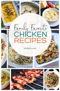 All of my family favorite chicken recipes all in one place! Pull out some of your frozen chicken and make one of these yummy meals! Breakfast Recipes, Dinner Recipes, Chicken Eating, Dinner Menu, Dinner Ideas, Best Chicken Recipes, Easy Family Meals, Lunch Snacks, Cheap Meals