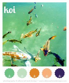 Koi ••••••••••••••••••••••••••••••••••••••  #color #colorpalettes #colorscheme #art  #koi