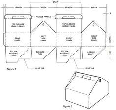 Carton Template Which Has Gable Top with Auto Bottom