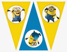 Minions: Banderines para Imprimir Gratis.