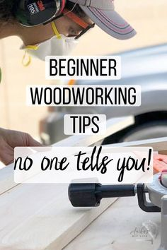 This is great! The simple beginner woodworking tips and tricks no one tells you and I wish I had known when I first started! #anikasdiylife Woodworking Quotes, Woodworking For Kids, Beginner Woodworking Projects, Woodworking Skills, Woodworking Shop, Woodworking Crafts, Woodworking Plans, Popular Woodworking, Simple Woodworking Projects