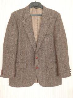 ***SOLD****Harris Tweed Mens Jacket of Handwoven Pure by FeistyFarmersWife, $55.00