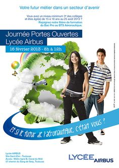 Open Day at the Airbus Lycée, Saturday 16th February to discover the aeronautical professions it proposes for young people (c) Airbus