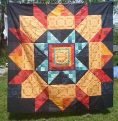 "Mega Swoon quilt top finished 80"" x 80"""
