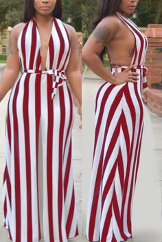 Sexy Striped Print Wine Red Off Shoulder Jumpsuit Black One Piece Jumpsuit, Black Off Shoulder, Cold Shoulder, Off Shoulder Jumpsuit, Large Size Dresses, Stripe Print, Printed Blouse, Fashion Outfits, Sexy