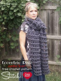4287d55b767092 Ravelry  Eccentric Pixie Jumbo Scarf pattern by Corina Gray