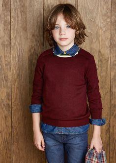 New - jersey lana cuello - Niños   MANGO KIDS