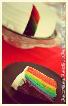 Test recettes Rainbowcake et DIY  cake -- gâteau - cuisine - pâtisserie - birthdaycake - birthday - kids - enfants - sweet table - tutoriel - tuto - blog