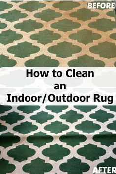 Easy and effective way to clean your indoor/outdoor area rug!