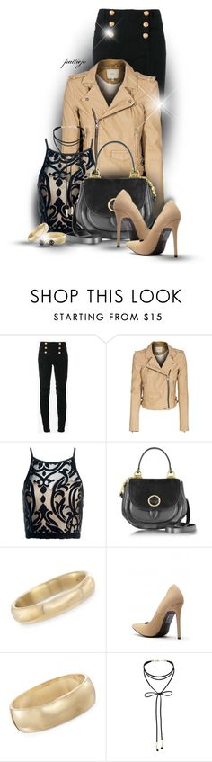 """Let's Wear Leather"" by rockreborn ❤ liked on Polyvore featuring Balmain, IRO, Sans Souci, Michael Kors, Andiamo, Ross-Simons, Miss Selfridge and Irene Neuwirth"