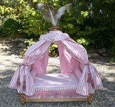 Marie Antoinette Dog Bed in Pink - Beds, Blankets & Furniture - Furniture Style Beds Posh Puppy Boutique