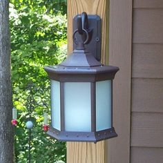 Starlite Garden and Patio Solar Lantern Sconce - Frosted Glass | from hayneedle.com