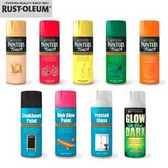 Rust oleum s glow in the dark spray paint can be sprayed - Glow in the dark paint colors ...