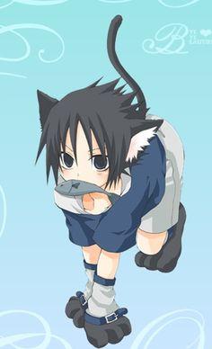 Hahaha lmfao sasuke as ero neko