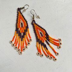 Arte Huichol Crochet Earrings, Etsy Seller, Drop Earrings, Create, Unique, Jewelry, Filter, Mexican Art, Ear Jewelry
