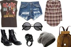 Grunge Style with jeans instead of shorts Grunge Style, Soft Grunge, Punk Fashion, Grunge Fashion, Fashion Outfits, Womens Fashion, Indie Fashion, Tokyo Street Fashion, Le Happy