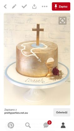 Pretty Parties - Custom Cakes Communion / Confirmation Cake www.