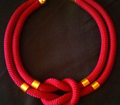 dark red necklace