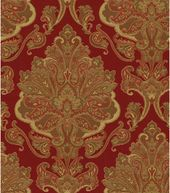 Upholstery Fabric-Waverly Aziza Garnet
