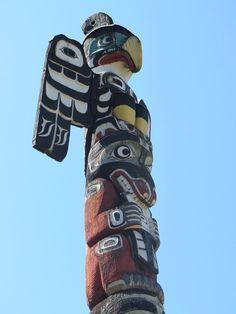 Totempfahl BC Kanada / totem pole, Vancouver, British Columbia, Canada