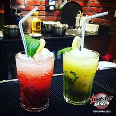 "Fiesta Special Cool Summer Drinks ""Mango Mojito"" & ""Strawberry Mojito"" ‪#‎RedstarBistro‬ ‪#‎PinoyFiesta‬ ‪#‎Mojito‬ ‪#‎summer‬ ‪#food #foodie #foodgram #foodporn#‎GoodFood‬ ‪#‎GoodExperience‬"