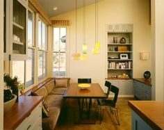 like this built in tablEin Santa Lucia Preserve - contemporary - dining room - san francisco - Cathy Schwabe Architecture