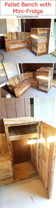 I think many of you would have literally gone nuts while reading the title like, pallet bench with mini fridge, and you would be like what? A wooden bench with fridge? So before you get crazier, let me make it pretty clear that the bench isn't having a literal electric fridge installed with it nor I do any magic tricks.