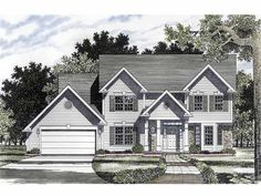 Center Hall Colonial - 19573JF | Colonial, Traditional, 2nd Floor Master Suite, Den-Office-Library-Study, PDF | Architectural Designs