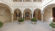 Thyssen Museum Courtyard Malaga