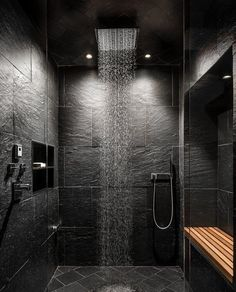 3 Engaging Cool Tips: Shower Remodeling Diy How To Build affordable shower remodel.Garden Tub To Shower Remodel fiberglass shower remodel on a budget.Small Walk In Shower Remodel. Small Bathroom Interior, Serene Bathroom, Bathroom Design Luxury, Paris Bathroom, Bathroom Black, Bath Design, Grey Slate Bathroom, Industrial Bedroom Design, Spa Design