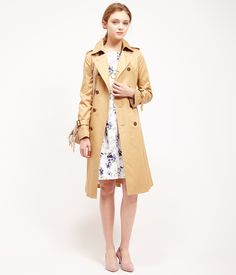 ROPÉ PICNIC(ロペピクニック)|WEB限定42サイズあり!ギャバロングトレンチコート Long trench coat |BEIGE #J'aDoRe JUN ONLINE #J'aDoRe Magazine