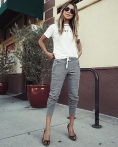 Shop Sincerely Jules on Instagram: 'Jules in our New Grey Mélange Joggers. ❤️ | shopsincerelyjules.com'