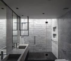 Clásico y texturizado Industrial, Interior Exterior, Divider, Bathtub, Bathroom, Furniture, Home Decor, Glass Boxes, Wood Paneling