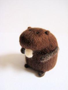 Felt Beaver  Cute Needle Felted Animal by IFeltFuzzy on Etsy, $47.00