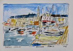 Honfleur France 2018 #PieterCronjeArt #Honfluer #France #HolidayFrance Holidays France, Faces, Painting, Art, Art Background, Painting Art, Kunst, The Face, Paintings