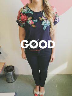 Local SA label 'GOOD' // Bloom shoulder tee