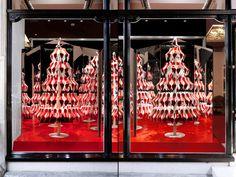 Christian Louboutins Christmas tree display by StudioXAG.