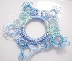 Tatting on Plastic Ring (possible crotatting too)