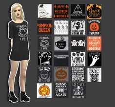 "bummerdudez: "" Halloween Dress by Kortenee Woohoo! This is only the beginning of my simblreen gits, because I am feeling ~spooky~ • 23 Swatches • Simblreen Gift #1 • Teen - Elder • You will need the..."