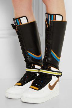 Nike   + Riccardo Tisci Air Force 1 leather hi-top sneakers ..................Muy interesente!!!!!!!!