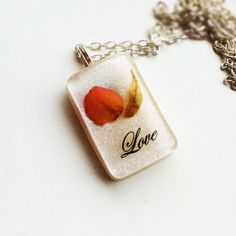 Real Rose Petal Resin Pendant Resin Jewelry by lowelowejewelry, $24.00