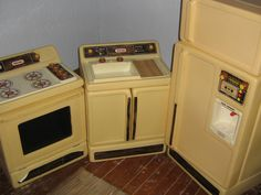 Child's Little Tikes Kitchen Set in Krickets_Bargains' Garage Sale in Riddlesburg , PA for $30.00. a refrigerator, stove and sink complete with alot of plastic toy dishes and pretend food; the refrigerator is 36 inches high