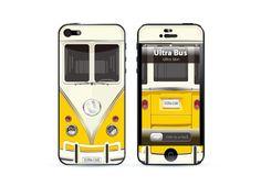 Apple iphone 5 skin Cover, iphone 5 skin, iphone 5 sticker, iphone skin, 60's  Hippie Van Yellow. $12.99, via Etsy.